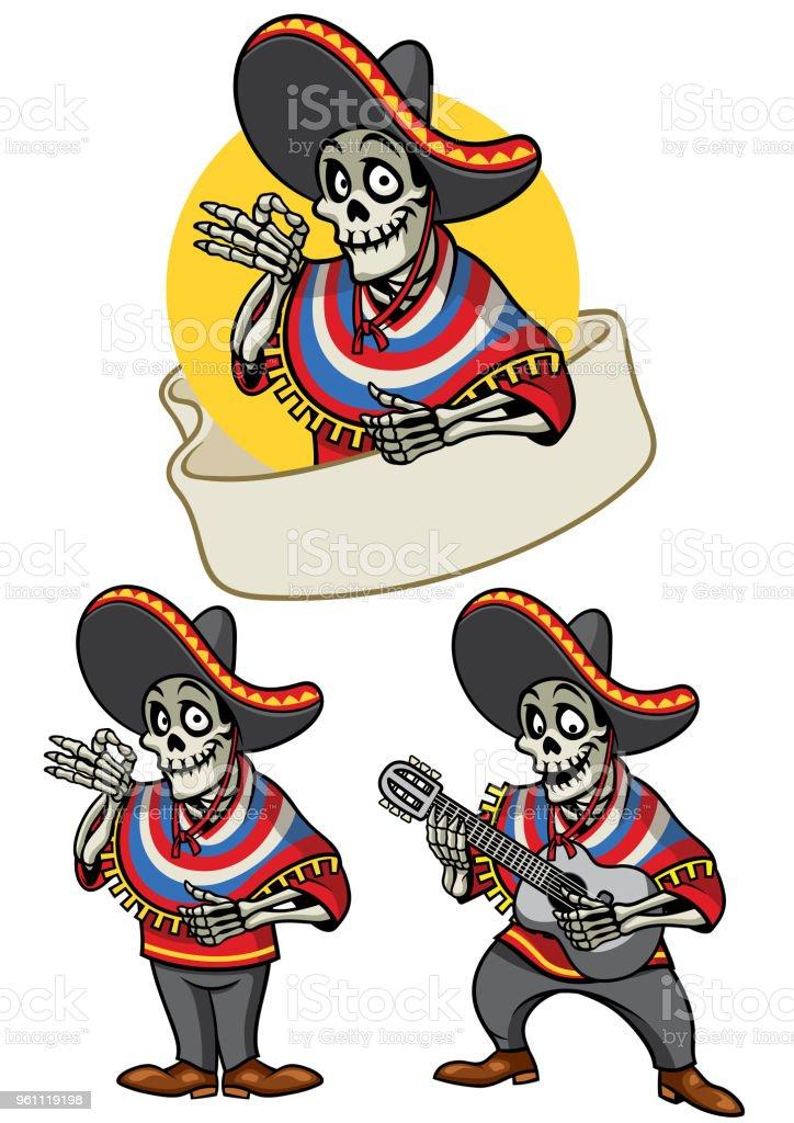 Vetores De Desenho De Conjunto De Caveira Mexicana E Mais Imagens