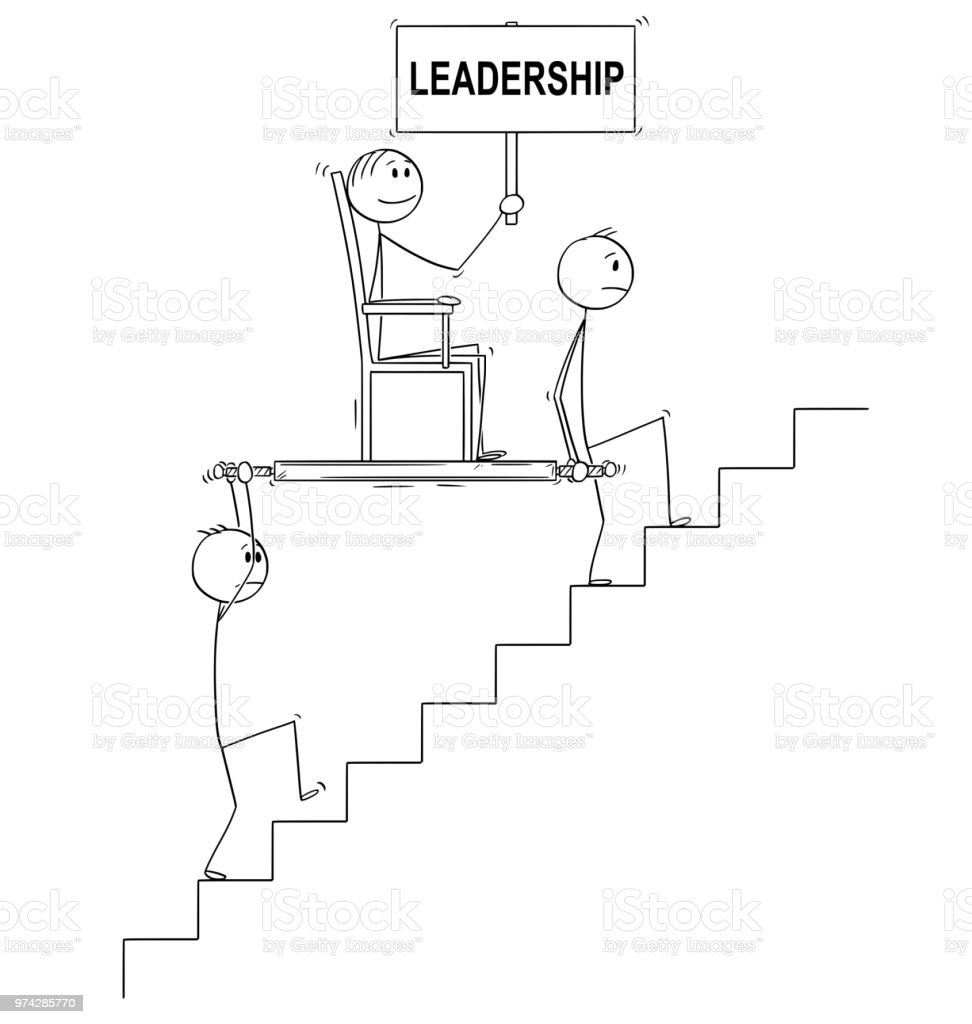 Cartoon Von Zwei Männern Oder Geschäftsleute Chef Oder Manager Mit ...