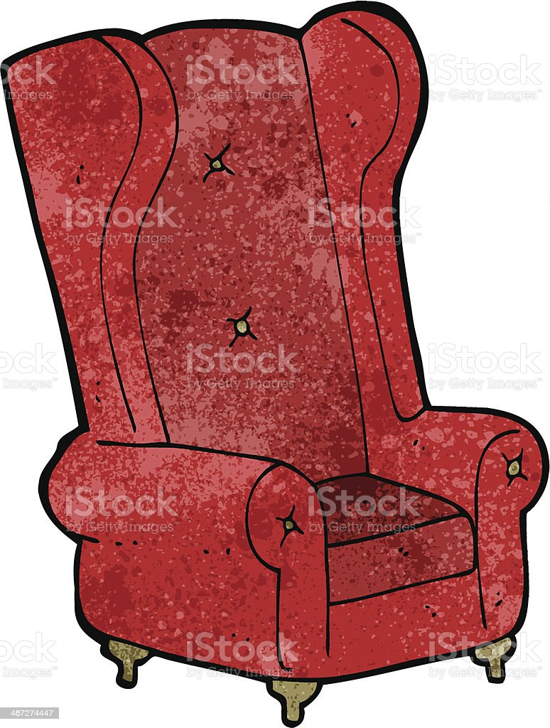 Comic Alter Sessel Stock Vektor Art und mehr Bilder von Bizarr ...
