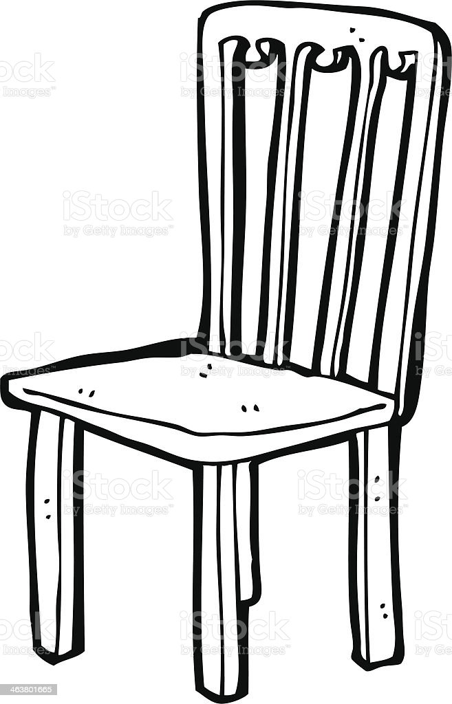 Cartoon Old Chair Stock Vector Art More Images Of Bizarre