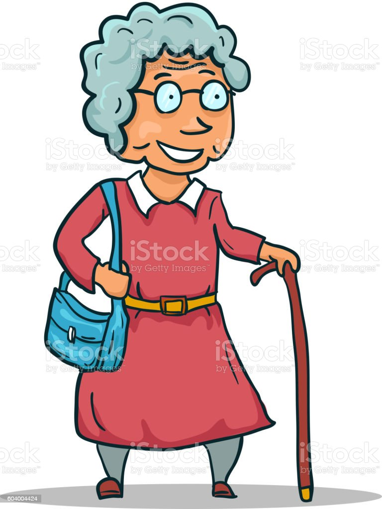 cartoon old lady character isolated on white background vector stock rh istockphoto com old lady cartoon characters dancing old lady cartoon characters with glasses