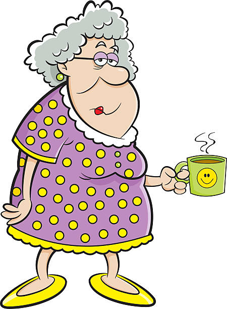 Best Old Woman Illustrations, Royalty-Free Vector Graphics ...