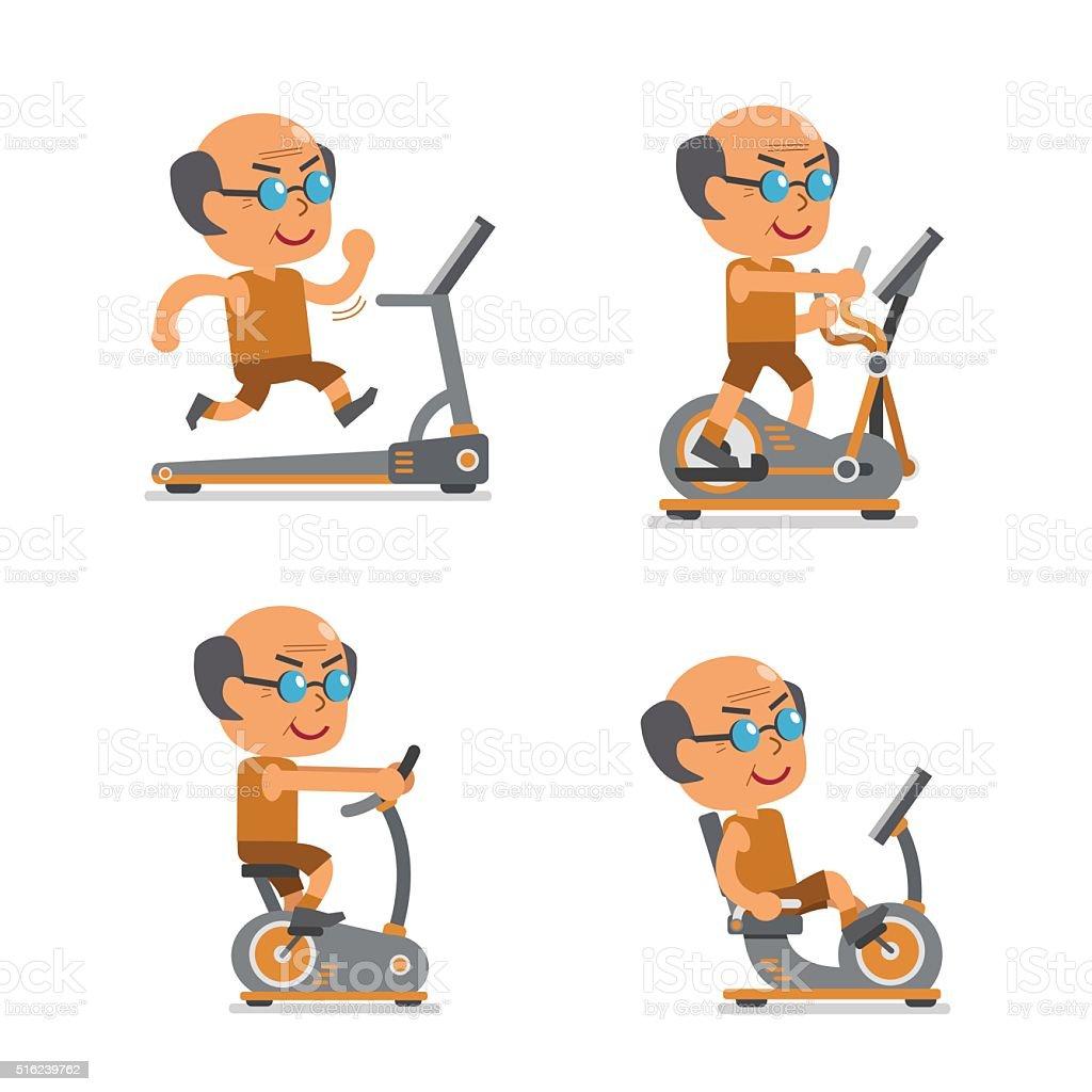 Vetores De Homem Com Desenhos Antigos Aparelhos De Exercicio E