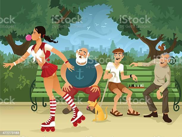 Cartoon old men leering at roller skating woman in park vector id472273183?b=1&k=6&m=472273183&s=612x612&h=vjyo9ibko44s8lz1see5gsyoqyiw ilojo1gjthjby0=