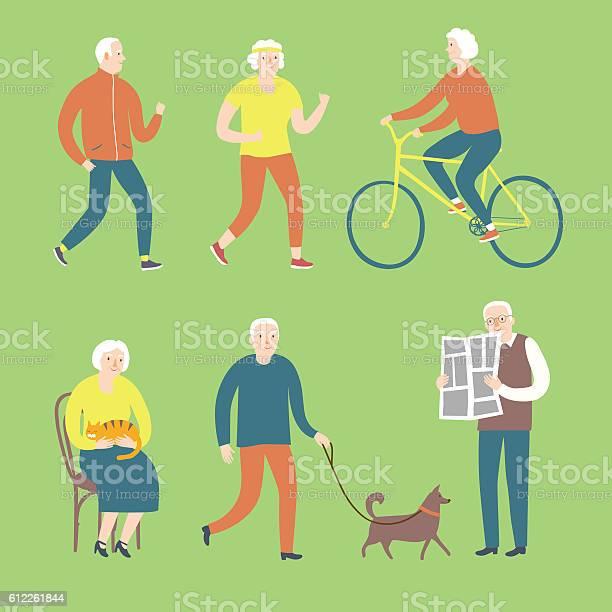 Cartoon old people spending leisure time vector id612261844?b=1&k=6&m=612261844&s=612x612&h=l2bxtnn4yftqoyivdszesxncdre8p pxpmnwxt7k4la=