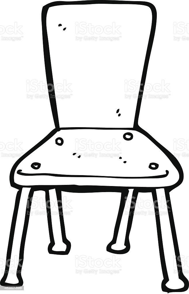 Cartoon Old School Chair Stock Illustration Download Image