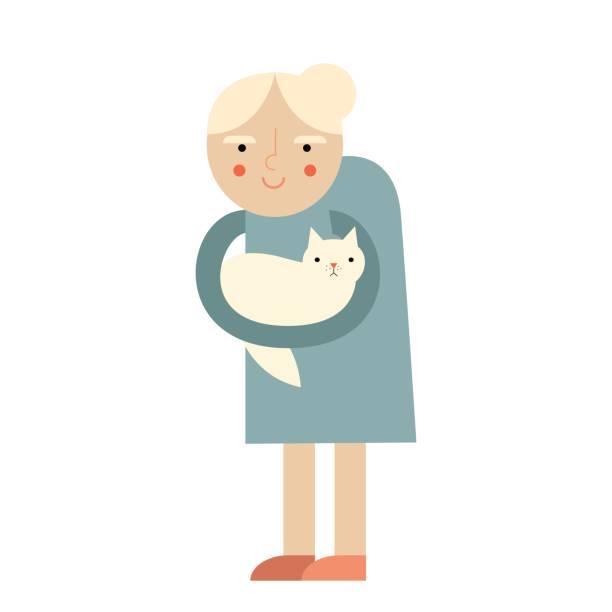 Cartoon Charakter der alten Frau – Vektorgrafik