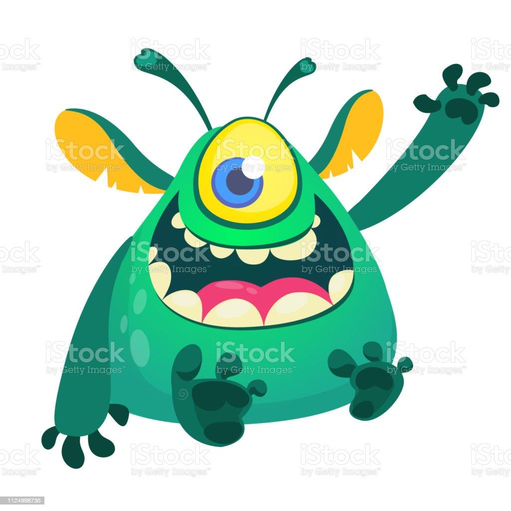 Vetores De Dos Desenhos Animados Um Monstro Olhos Desenho E Mais Imagens De Alienigena Istock