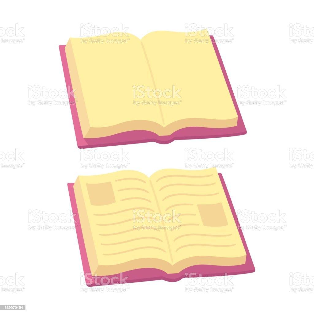 Cartoon open book vector art illustration
