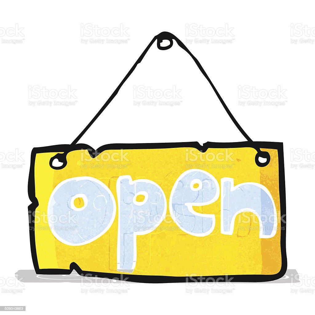 カットイラストオープン店の看板 - いたずら書きのベクターアート素材や