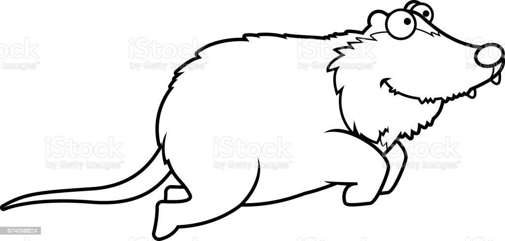 Cartoonopossum Springen Stock Vektor Art und mehr Bilder von ...