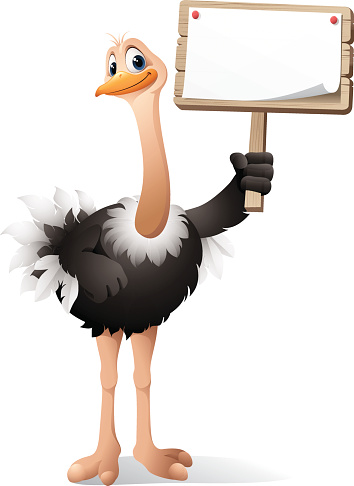 Cartoon Ostrich - sign