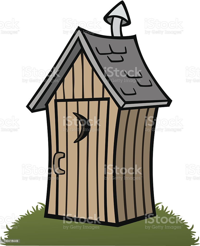 royalty free outhouse clip art vector images illustrations istock rh istockphoto com outhouse clipart free Outhouse Signs