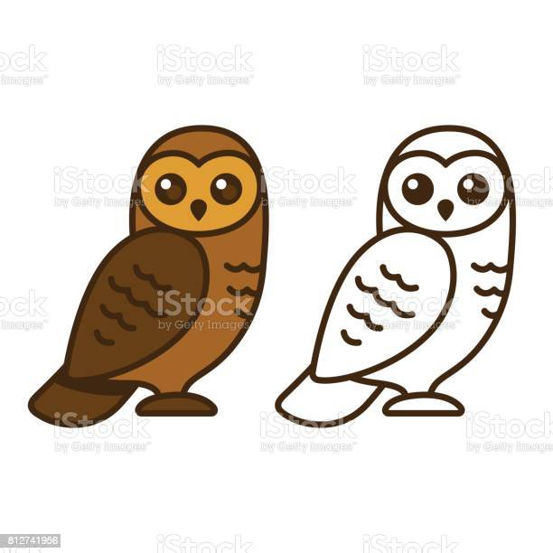 Cartoon Owl Drawing Stock Illustration Download Image Now Istock