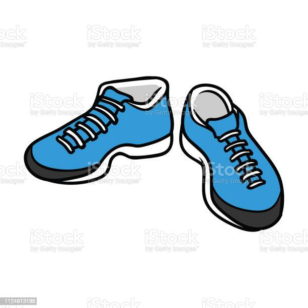 Cartoon Pair Of Running Shoes Stock Illustration Download Image Now Istock