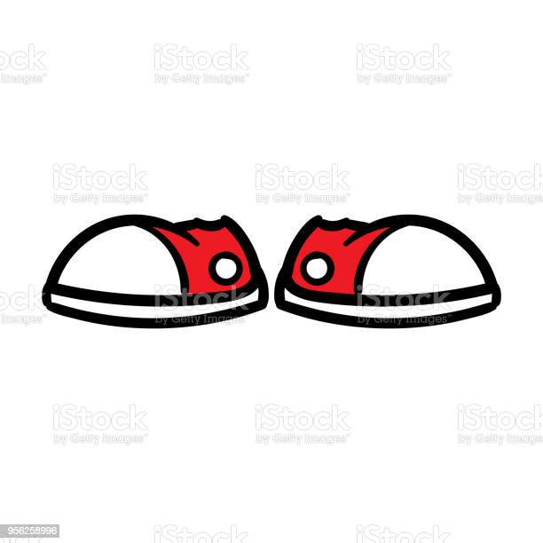 Cartoon Pair Of Sneakers Stock Illustration Download Image Now Istock