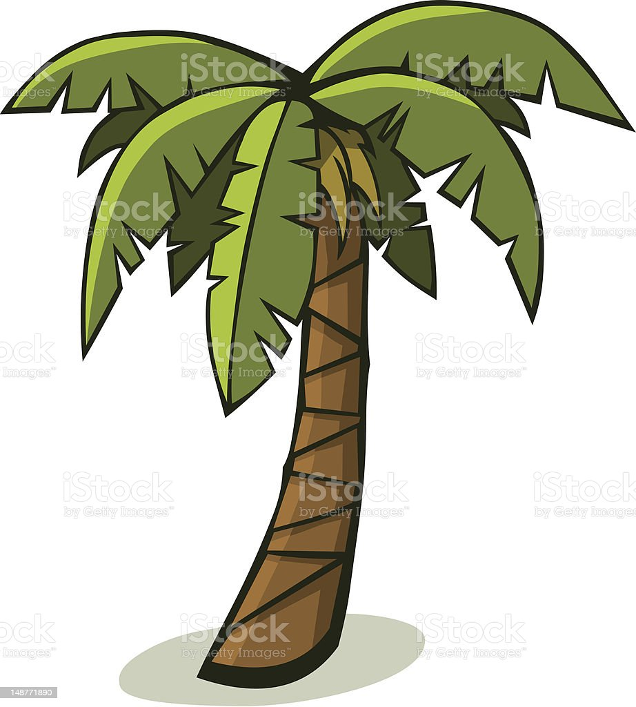 Cartoon Palm Tree Stock Vector Art & More Images of Cartoon ...