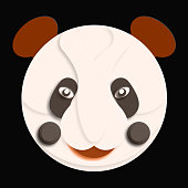 cartoon panda face pattern