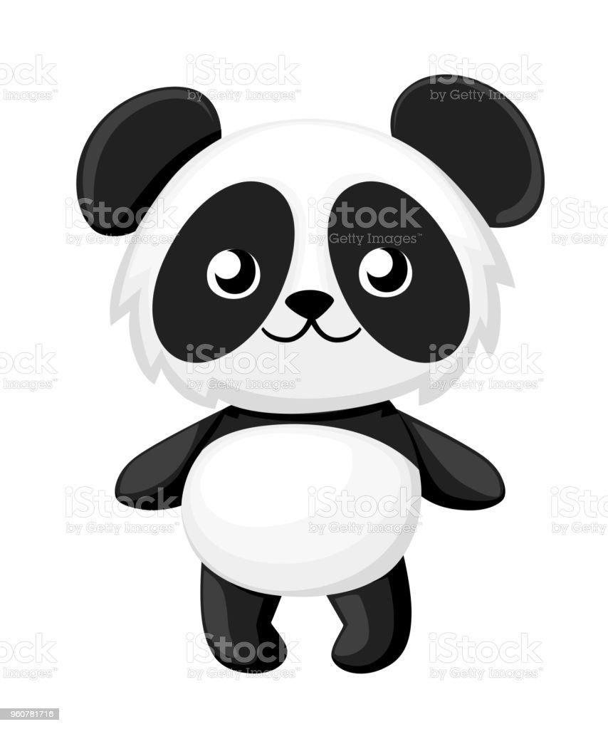 Illustration De Dessin Anime De Panda Mignon Bebe Panda Illustration