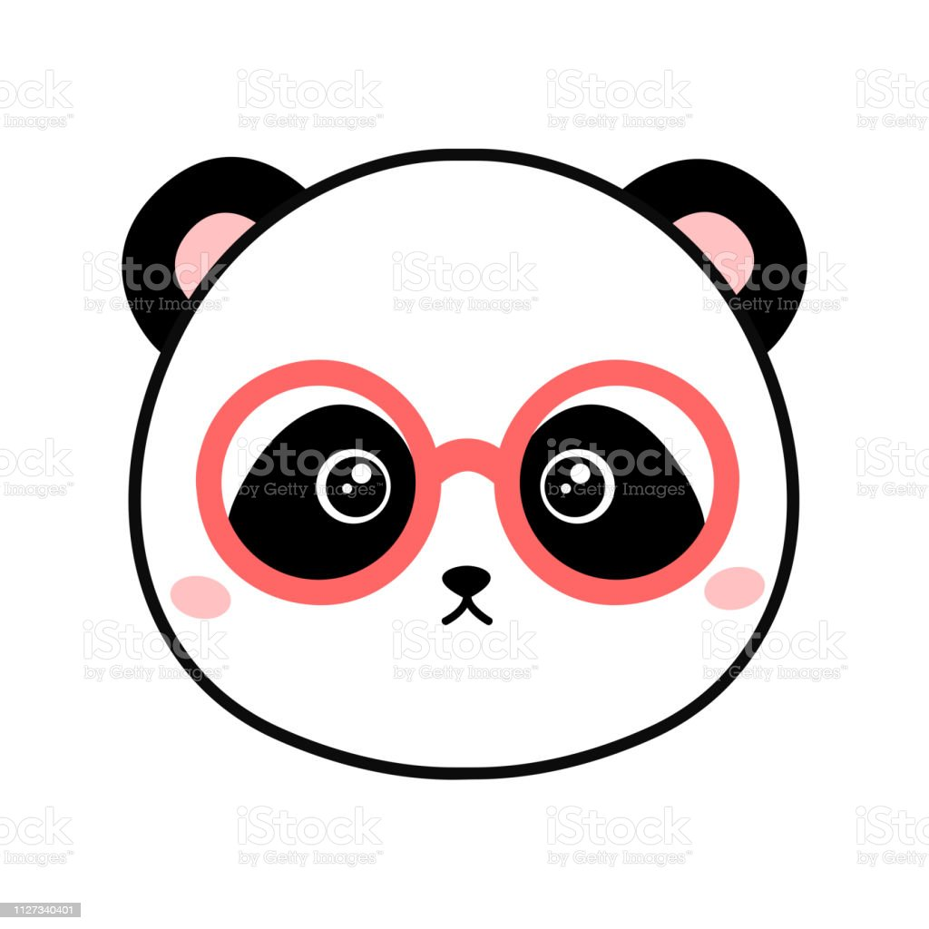 7afb1c4d280 Cartoon panda with glasses. Vector illustration royalty-free cartoon panda  with glasses vector illustration