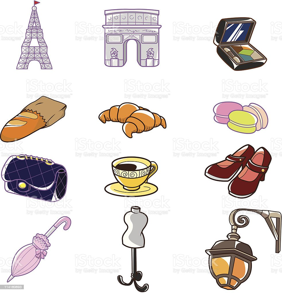 Cartoon Paris Element Stock Illustration Download Image Now Istock