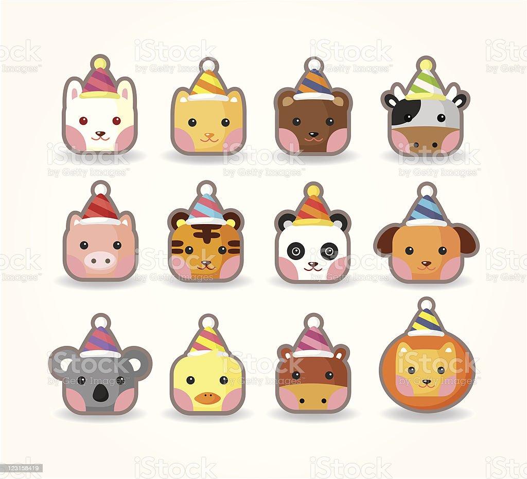 cartoon party animal head royalty-free cartoon party animal head stock vector art & more images of animal