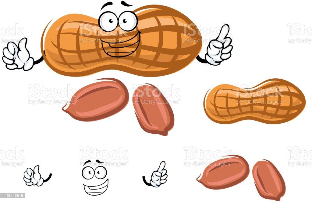 De amendoim com desenhos em Concha Verde - ilustração de arte em vetor