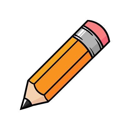 Cartoon Pencil Stock Illustration - Download Image Now - iStock