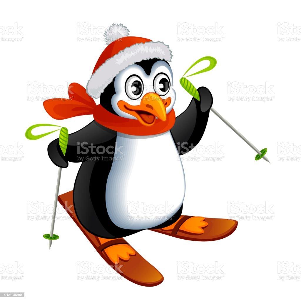 Pingouin Dessin Anime Sur Ski Vecteurs Libres De Droits Et Plus D Images Vectorielles De Carre Composition Istock