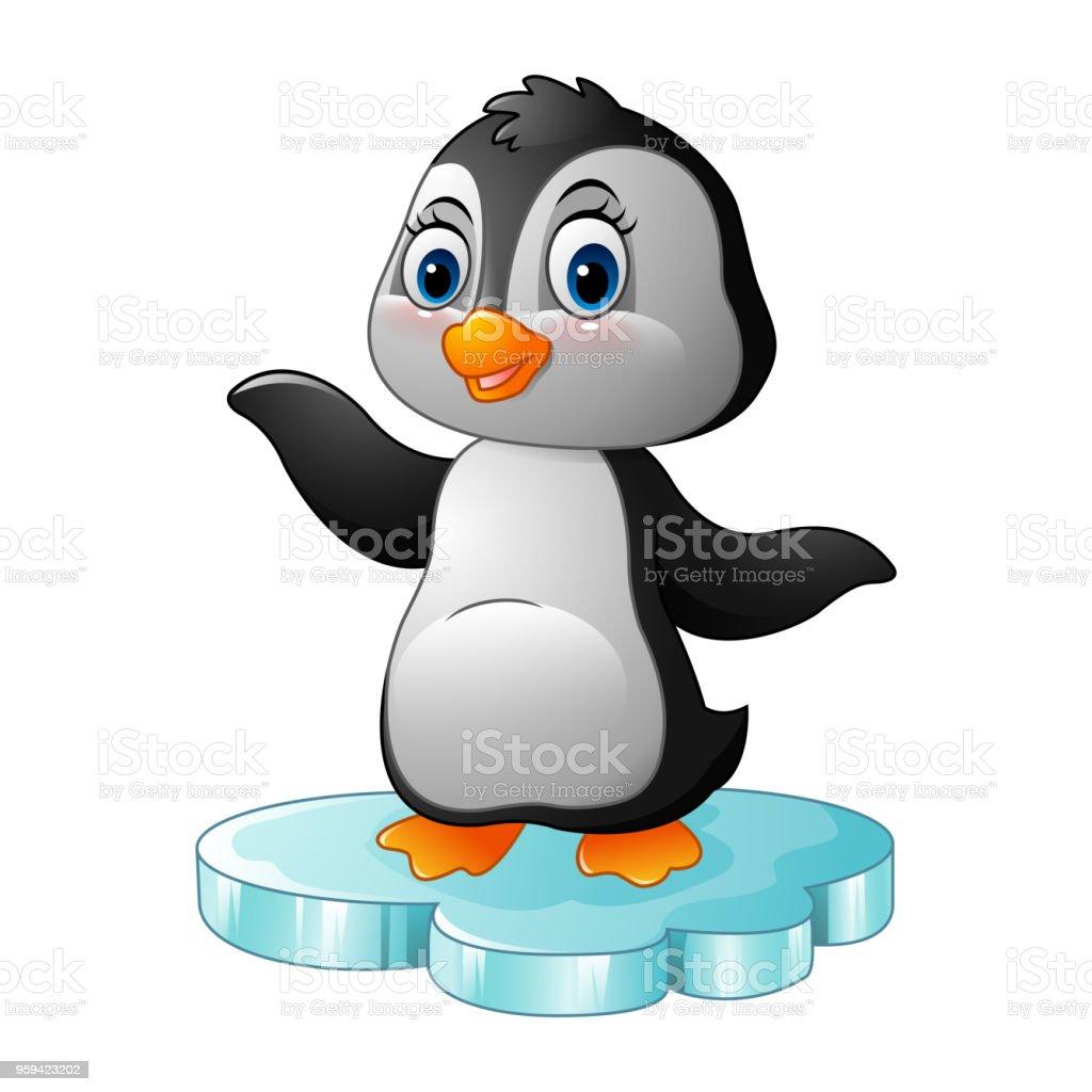 Commandes De Pingouin Dessin Anime Sur La Banquise Vecteurs Libres