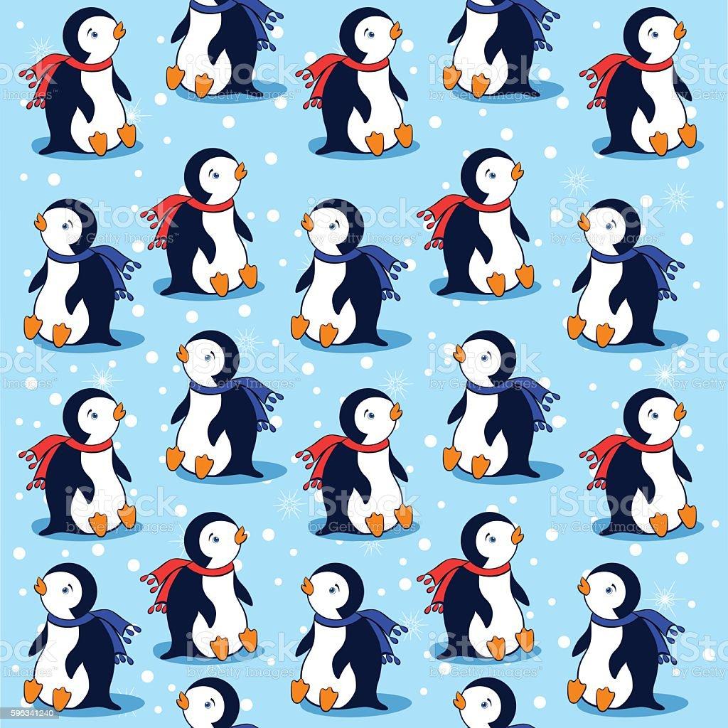 Cartoon penguin, vector seamless pattern Lizenzfreies cartoon penguin vector seamless pattern stock vektor art und mehr bilder von antarktis