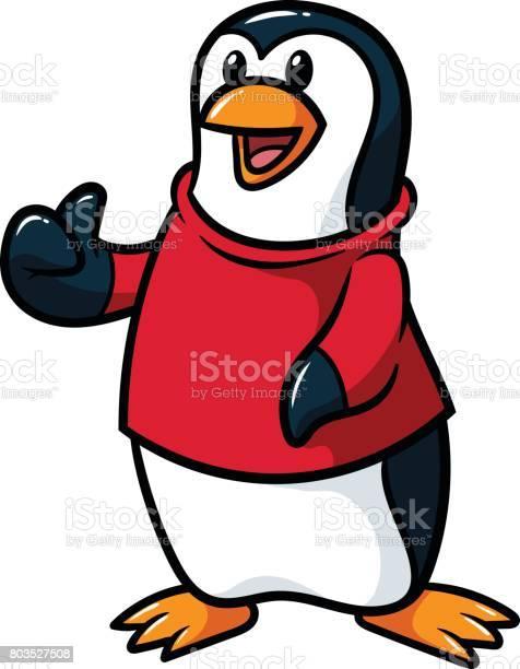 Cartoon penguin wearing shirt giving thumbs up vector illustration vector id803527508?b=1&k=6&m=803527508&s=612x612&h=ixbpf1i0fk8 alw1j8uj4ubpsjyfgk66dih1gfcyine=