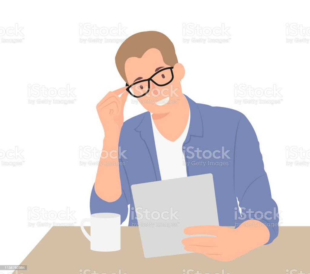 Cartoon People Character Design Handsome Businessman In
