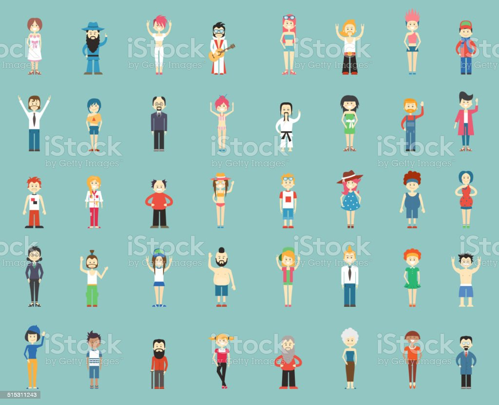 cartoon people vector art illustration