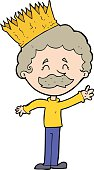 cartoon person wearing crown