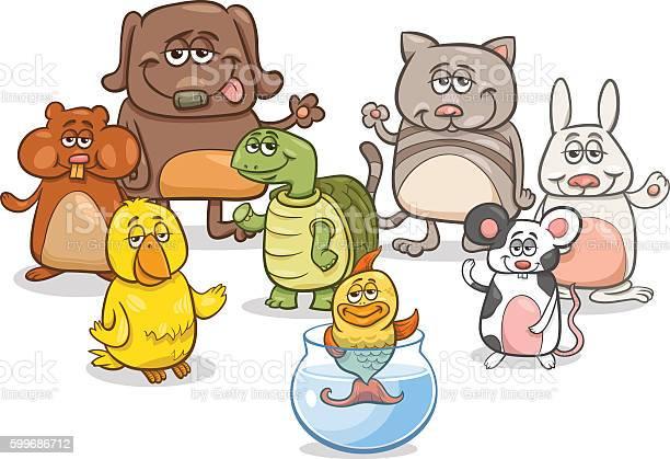 Cartoon pet characters group vector id599686712?b=1&k=6&m=599686712&s=612x612&h=1figxt5vggx6ie59k7b1 i0if pfepc0racznisrb6o=