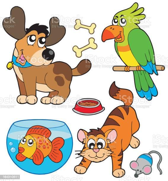 Cartoon pets collection vector id164310511?b=1&k=6&m=164310511&s=612x612&h=cnlnlmkpb7h2waaa4kulz8nelbgt4fdh0ocj7p83grg=