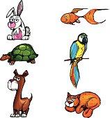 istock Cartoon pets 158340662