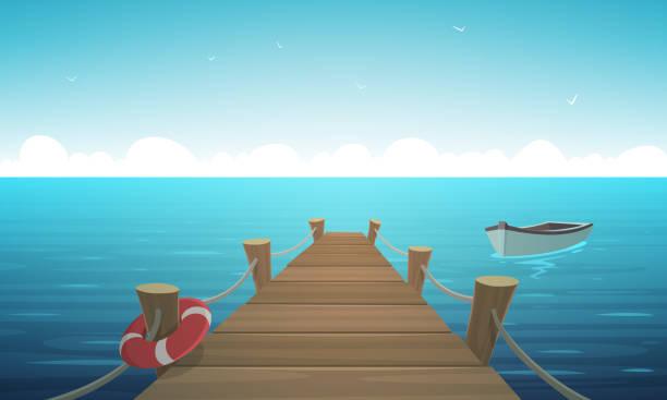 カートゥーン桟橋 - 桟橋点のイラスト素材/クリップアート素材/マンガ素材/アイコン素材