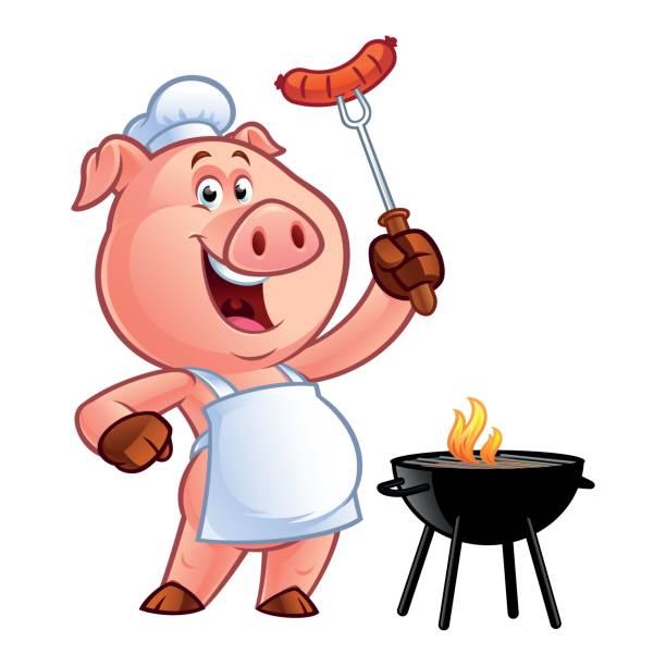 illustrations, cliparts, dessins animés et icônes de chef cochon dessin animé - cuisine espagnole