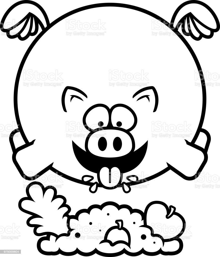 Cartoon Schwein Essen Stock Vektor Art und mehr Bilder von ClipArt ...