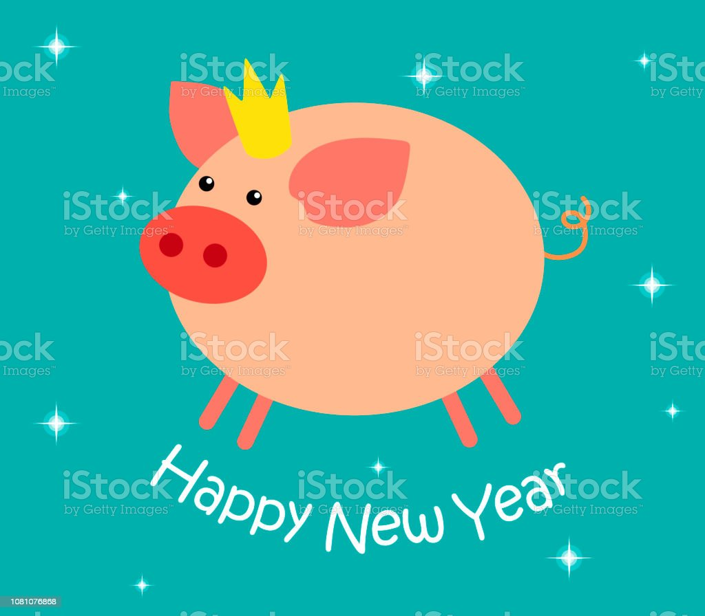 Cartoon Pig With A Crown On His Head And The Text Happy New Year On A Turquoise Background With White Asterisks Flat Style Cartoon Illusion Symbol Of 2019 Stock Illustration Download Crown on my head like a god  animation  yuki takashi (very shooort,not very good too). https www istockphoto com vector cartoon pig with a crown on his head and the text happy new year on a turquoise gm1081076868 289865273