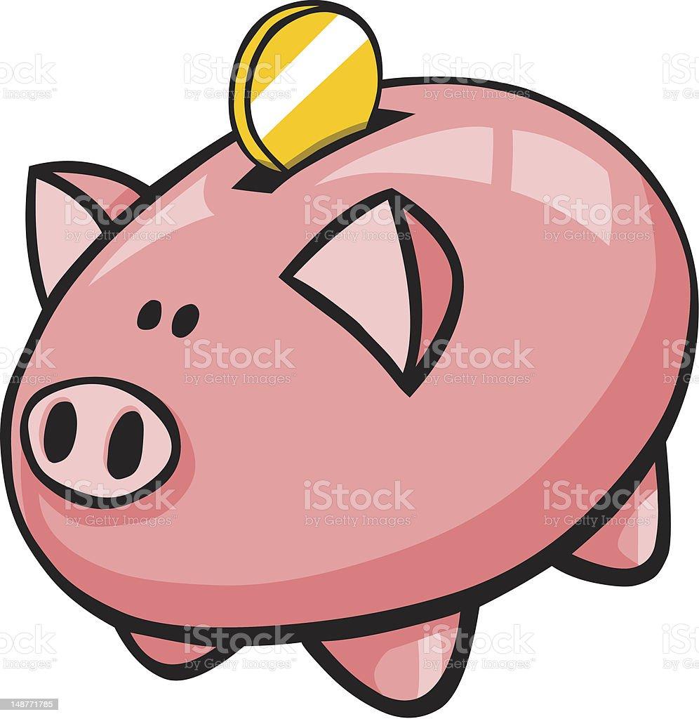 Tirelire cochon dessin anim avec pi ce dor cliparts - Tirelire dessin ...