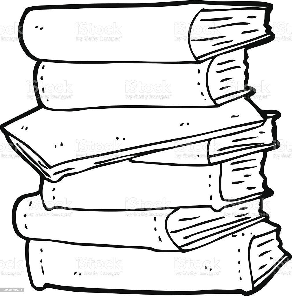 Ilustracion De Historieta Pila De Libros Y Mas Vectores