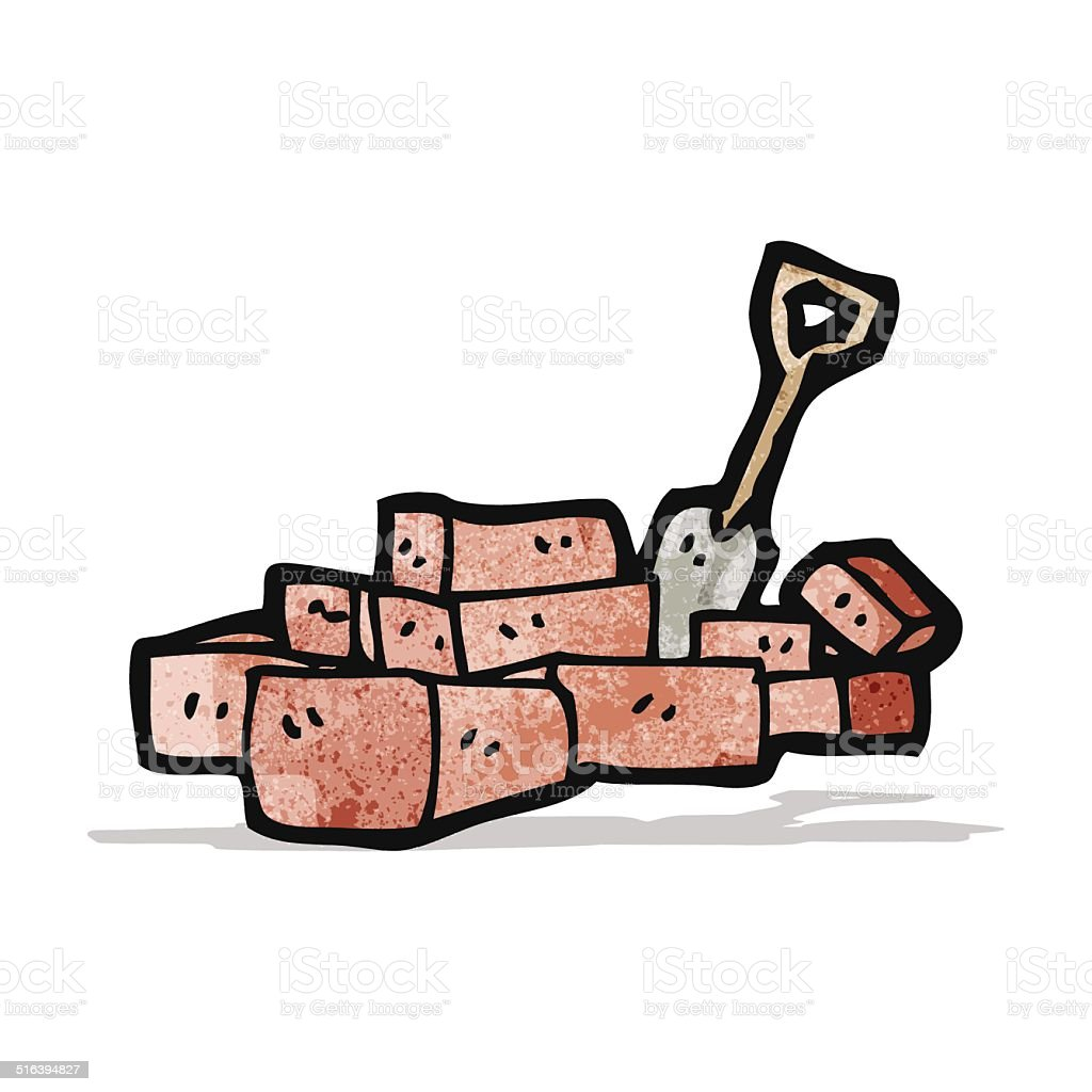 Cartoon Pile Of Bricks Royalty Free Stock Vector Art Amp