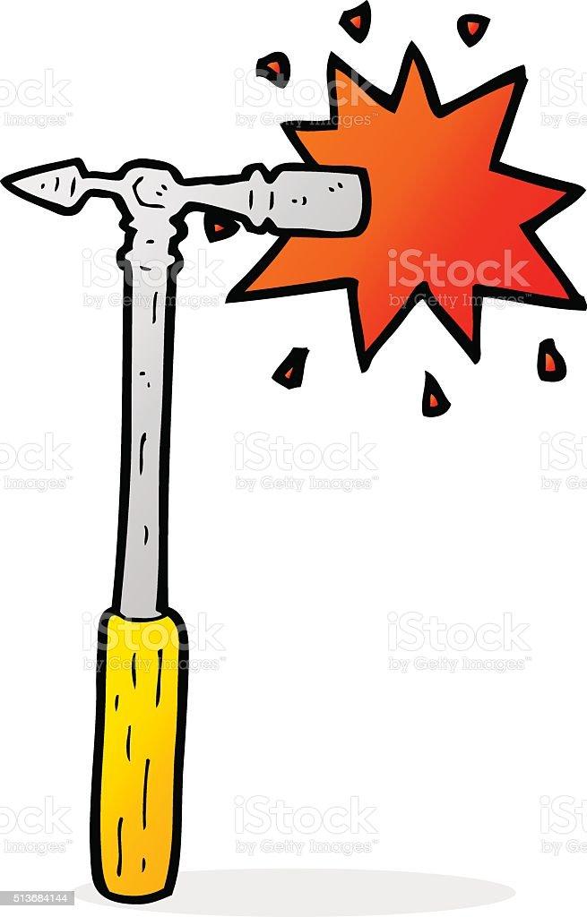 Jeu de dessin anim marteau cliparts vectoriels et plus - Dessin de marteau ...