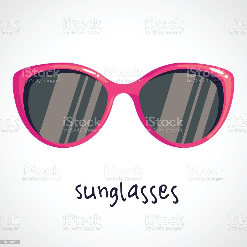 cartoon pink sunglasses stock illustration - download image now - istock  istock