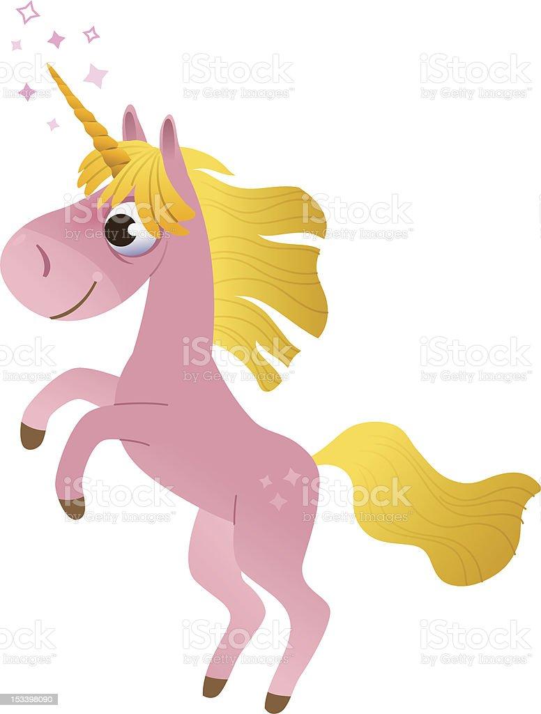 Cartoon pink unicorn royalty-free cartoon pink unicorn stock vector art & more images of animal