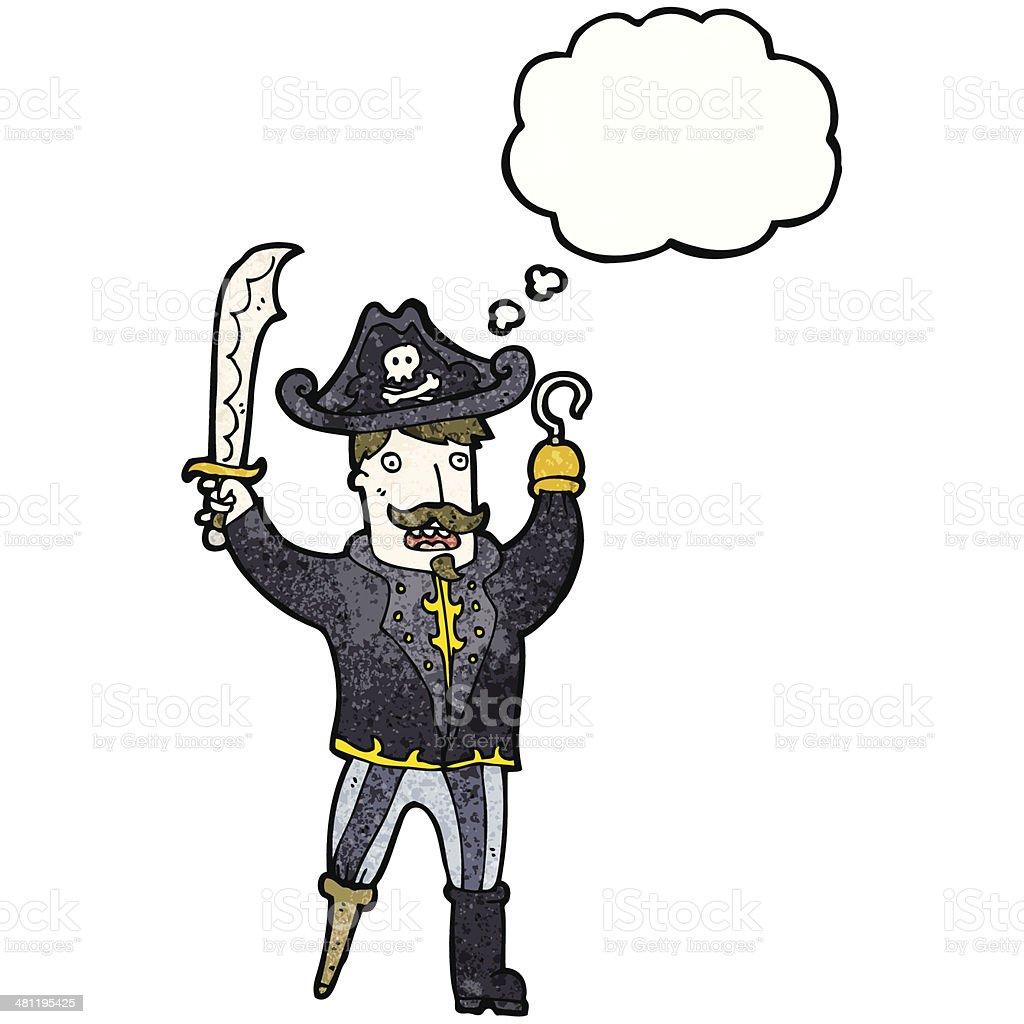 pirata do capitão gancho dos desenhos animados com a mão arte