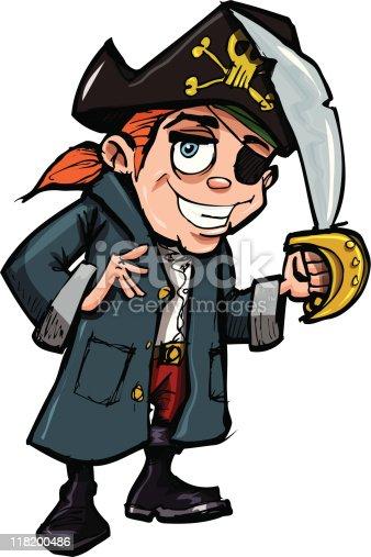 istock Cartoon Pirate Kid 118200486